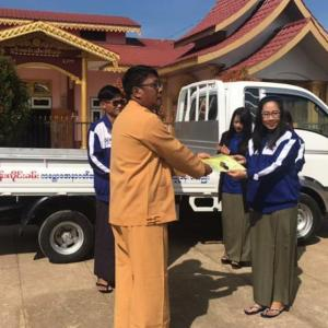 BFM donate a Lightruck to Shwe Dhamma Yaungchi Social Foundation