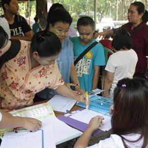 ဧဒင်မသန်စွမ်းသက်ငယ်များပြုစုရာရိပ်မြုံမှ ဦးဆောင်ကျင်းပသည့် ၂၀၁၈ခုနှစ် အပြည်ပြည် ဆိုင်ရာ မသန်စွမ်းသူများနေ့ အခမ်းအနားတွင် ကမ္ဘောဇအနာဂတ်အလင်းတန်းမြန်မာဖောင်ဒေးရှင်းမှ ပါဝင်ခဲ့