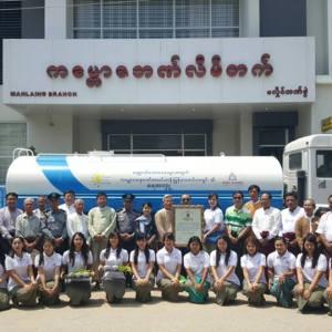 ကျောက်ပန်းတောင်းမြို့နှင့် မလှိုင်မြို့သို့ ရေသယ်ယာဉ် အသစ် (၂) စီးကို ကမ္ဘောဇအနာဂတ် အလင်းတန်းမြန်မာ ဖောင်ဒေးရှင်းမှ ပေးအပ်လှူဒါန်း။