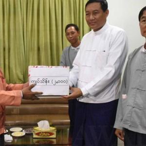 ငလျင်ဒဏ်ကြောင့် ပြိုကျပျက်စီးခဲ့ရသော ပုဂံမြို့ရှိ ရှေးဟောင်းစေတီများ ပြန်လည်ပြုပြင်ရန်အတွက် BFM မှ အလှူငွေကျပ်သိန်း (၂၀၀၀) လှူဒါန်း